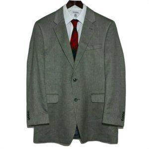 Jos A Bank Sport Coat Silk Camel Herringbone 42 L